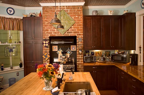 Custom hardwood historical renovation kitch design virginia
