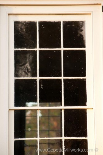 Antique glass historic wooden window handmade renovation