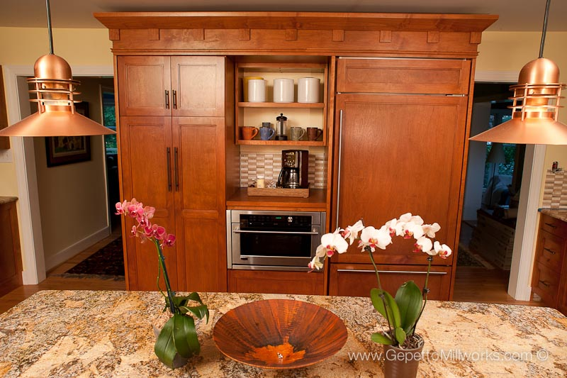 Frank Lloyd Wright inspired custom kitchen design