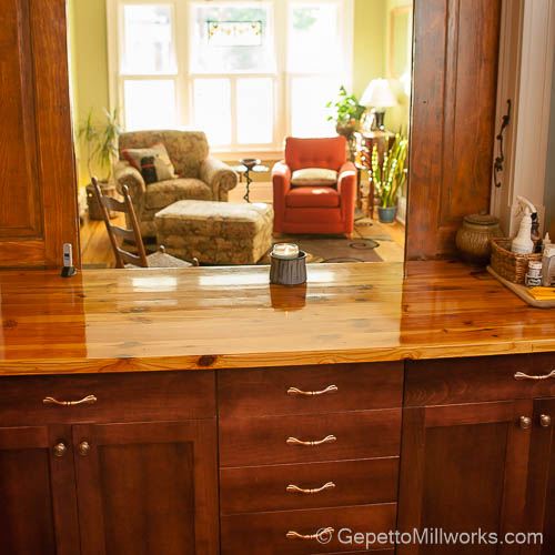 Solid Wood Grain Counter Tops