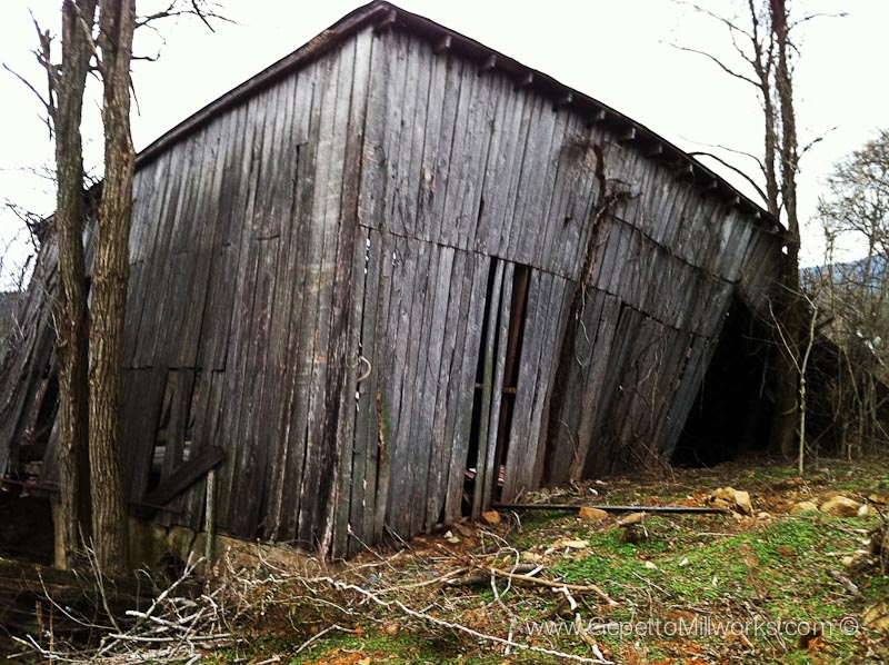 Old dilapidated barn used for reclaimed lumber