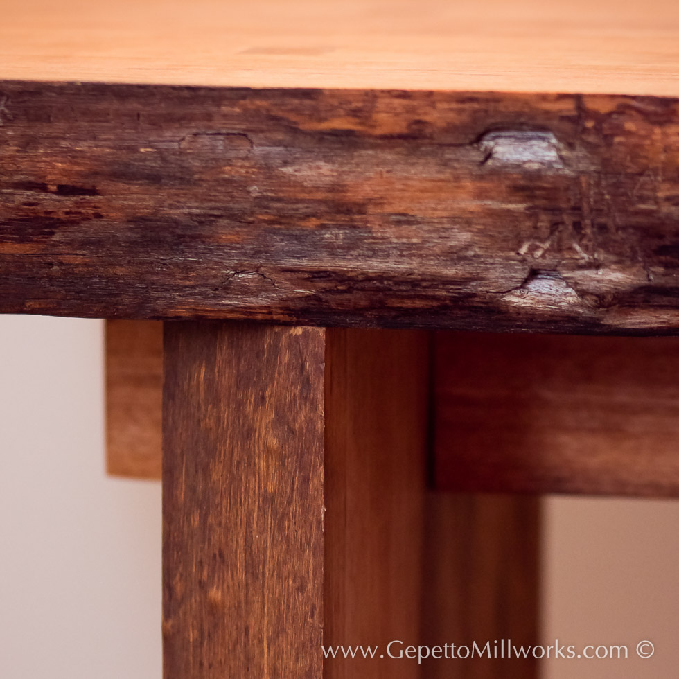 Solid Wood Joinery conference table construction