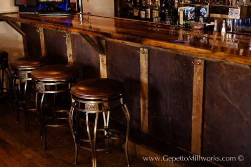 Solid wood bar | Custom Restaurant Fittings | Virginia Craftsmen