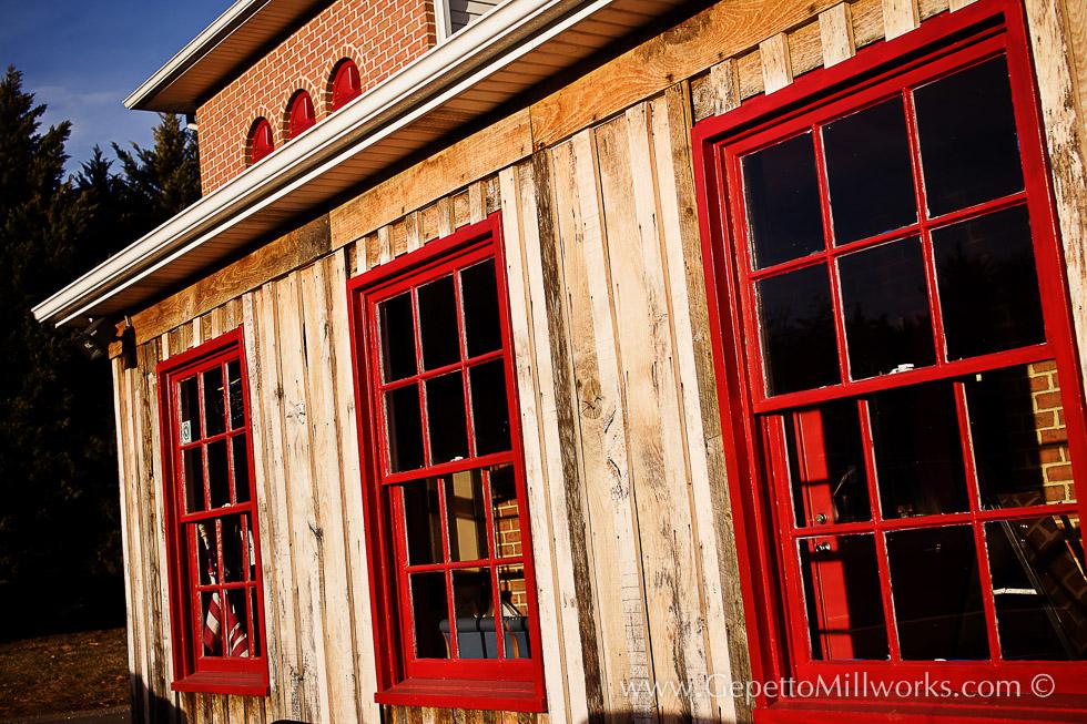 Historic Wooden Windows Barnwood Facing