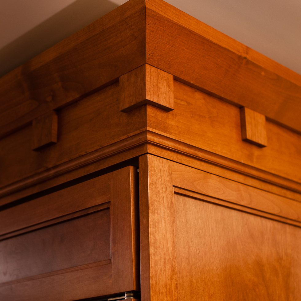 Solid Wood Refrigerator Facing Architectural Millwork Inspired