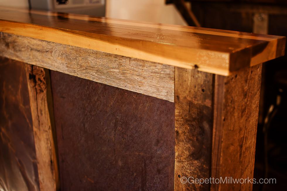 Rustic Wood Bar Construction Virginia