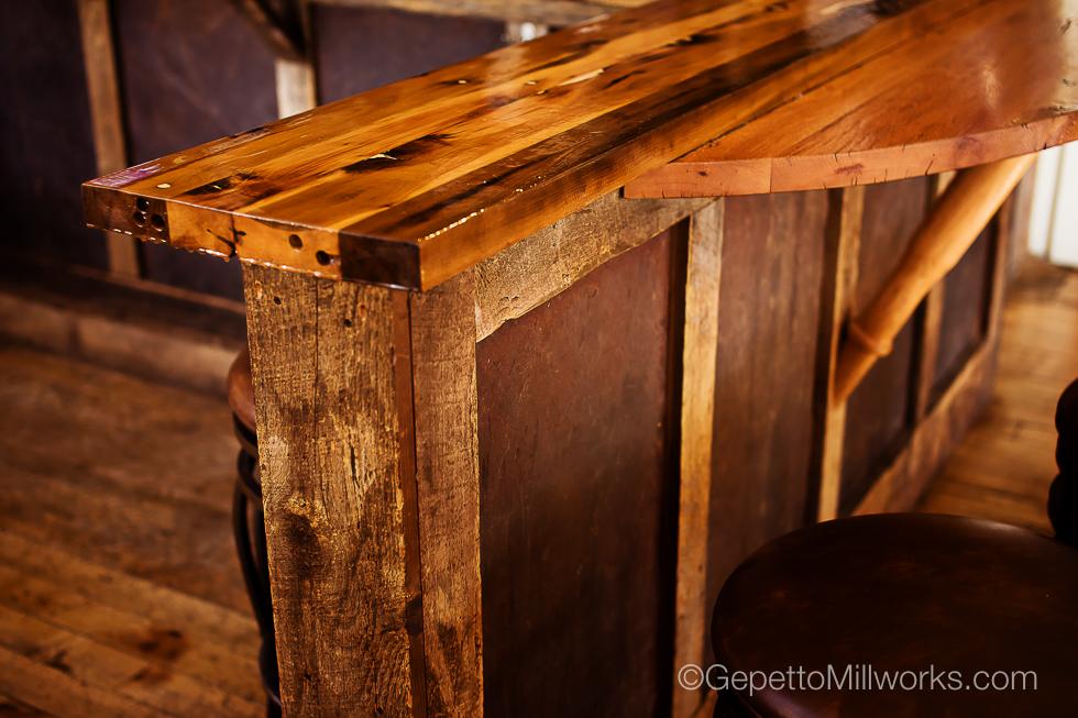 Reclaimed Barnwood Solid Wood Bar Custom Made