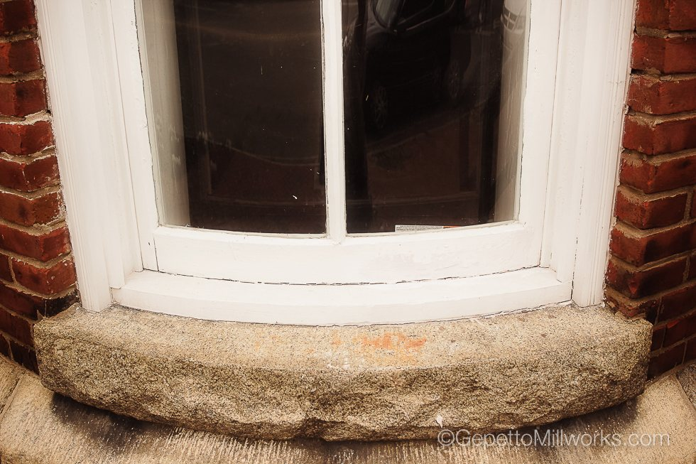 Rounded Wooden Window Construction